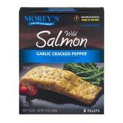 Morey's Wild Salmon Garlic Cracked Pepper Fillets - 2 CT