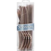Sensations Silverware, Plastic, Rose-Gold Assorted Cutlery