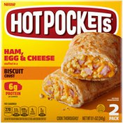 Hot Pockets Frozen Snack Ham, Egg and Cheese Biscuit Crust Sandwich