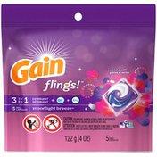 Gain flings! Laundry Detergent Pacs, Moonlight Breeze, 5 count Laundry