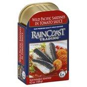 Rain Coast Trading Sardines, Wild Pacific, in Tomato Sauce