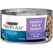 Purina Pro Plan Sensitive Stomach Wet Cat Food, FOCUS Sensitive Skin & Stomach Arctic Char Entree