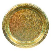 Amscan Plates, Prismatic Gold, 6.75 Inch