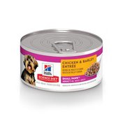 Hill's Science Diet Dog Food, Premium, Chicken & Barley Entree, Small & Toy Breed, Ground, Adult 1-6,