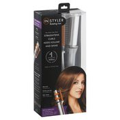 Instyler Rotating Iron, Straightens/Curls, 1.25', Silver, Box
