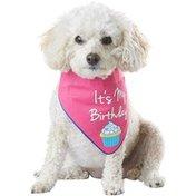 Petco Special Occasions Birthday Reversible Pink Dog Bandana, Medium/Large