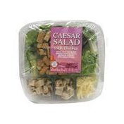 Taylor Farms LETTUCE, WHITE CHICKEN MEAT, SHREDDED PARMESAN CHEESE & MULTIGRAIN CROUTONS WITH A CAESAR SALAD DRESSING with Chicken