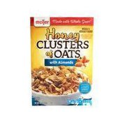 Meijer Honey CLUSTERS of OATS with Almonds LIGHTLY SWEETENED CORN & WHOLE WHEAT FLAKE CEREAL WITH GRANOLA