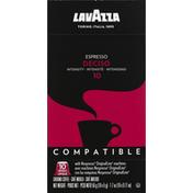 Lavazza Coffee, Ground, Espresso, Deciso