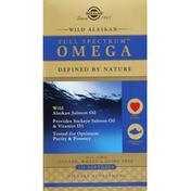 Solgar Omega, Wild Alaskan, Softgels