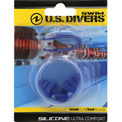 US Divers Nose Clip/Ear Plugs, Silicone
