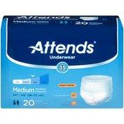 Attends AP0720 Extra Absorbency Medium Underwear