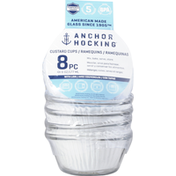 Anchor Hocking Custard Cups, with Lids, 6 Ounces