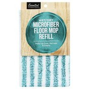 Essential Everyday Floor Mop, Refill, Microfiber, Wet/Dry