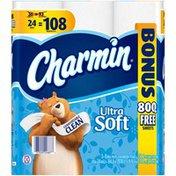 Charmin Ultra Charmin Ultra Soft Toilet Paper 24 Mega Bonus Rolls Toilet Tissue