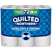 Quilted Northern Ultra Soft and Strong Bathroom Tissue 18 Mega Rolls White