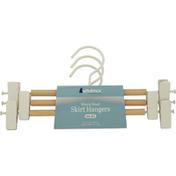 Whitmor Skirt Hangers, Wire & Wood, Set of 3
