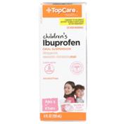 TopCare Children'S Ibuprofen 100 Mg Per 5 Ml Pain Reliever/Fever Reducer (Nsaid) Oral Suspension, Bubble Gum