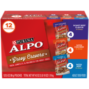Purina Gravy Wet Dog Food Variety Pack, Gravy Cravers Roast Beef Flavor, With Chicken & With Beef