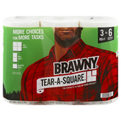 Brawny Paper Towels, Tear-A-Square, 2-Ply