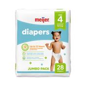 Meijer Premium Baby Diapers Size 4