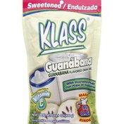 Klass Flavored Drink Mix, Sweetened, Guanabana