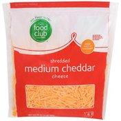 Food Club Shredded Cheese, Medium Cheddar