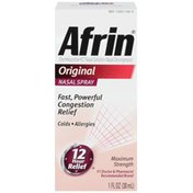Afrin Original Nasal Spray Nasal Decongestant