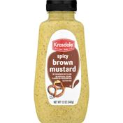 Krasdale Mustard, Brown, Spicy