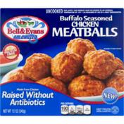 Bell & Evans Meatballs, Chicken, Gluten Free, Buffalo Seasoned, Box