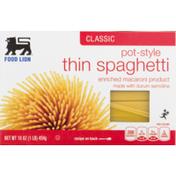 Food Lion Spaghetti, Thin, Classic, Pot-Style, Box