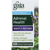 Gaia Herbs Adrenal Health, Nightly Restore, Adapt & Balance, Phyto-Caps