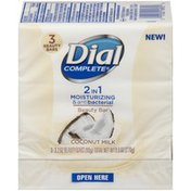 Dial Complete 2 in 1 Moisturizing & Antibacterial Beauty Bar, Coconut Milk
