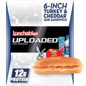 Lunchables 6-Inch Turkey & Cheddar Cheese Sub Sandwich Meal Kit with Water, Pringles Potato Crisps, Hershey's Kisses & Kool-Aid Tropical Punch SIngle