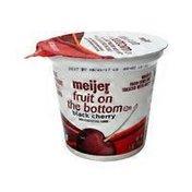 Meijer Black Cherry Fruit on the Bottom Yogurt