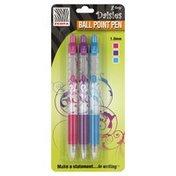 Zebra Ball Point Pens, Medium Point, 1.0 mm, Assorted Ink