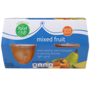 Food Club Mixed Fruit Diced Peaches, Pears & Pineapple In A Naturally Flavored Light Syrup