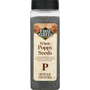 First Street Poppy Seeds, Whole