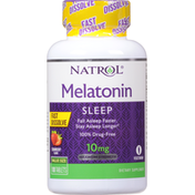 Natrol Melatonin, Maximum Strength, 10 mg, Sleep, Tablets, Strawberry Flavor, Value Size