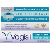 Vagisil Anti-Itch Creme, 1% Hydrocortisone, Sensitive Skin