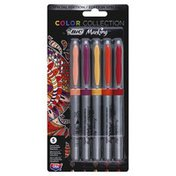 BiC Markers, Permanent, Ultra Fine, Happy Colors