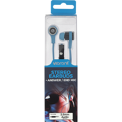 Vibrant Stereo Earbuds, +Answer/End Mic, Box