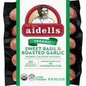 Aidells Smoked Chicken Sausage, Sweet Basil & Garlic, 36 oz. (12 Fully Cooked L