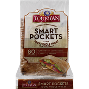 Toufayan Smart Pockets, 100% Whole Wheat, with Multigrain