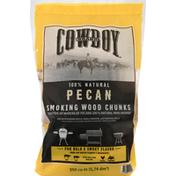 Cowboy Smoking Wood Chunks, Pecan