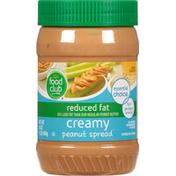 Food Club Peanut Spread, Reduced Fat, Creamy