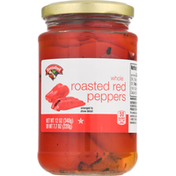 Hannaford Red Peppers, Roasted, Whole