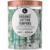 L. Compact Tampons Light/Regular Absorbency Duo Pack