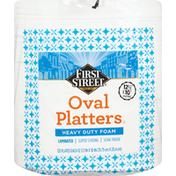 First Street Platters, Oval, Heavy Duty Foam