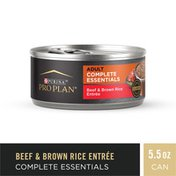 Purina Pro Plan High Protein Wet Dog Food Pate, COMPLETE ESSENTIALS Beef & Brown Rice Entree